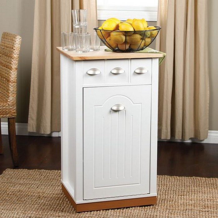 kitchen island with trash bin build a kitchen island with trash storage diy projects 24828