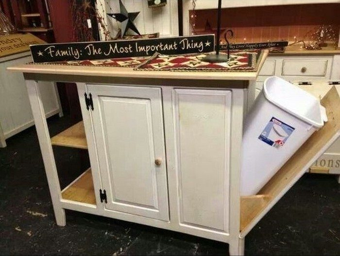 Build a kitchen island with trash storage | DIY projects ...