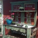 Old Wood Door Potting Bench