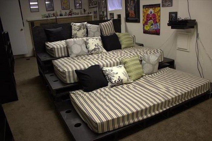 Build a movie theater sofa from pallets | DIY projects for ...