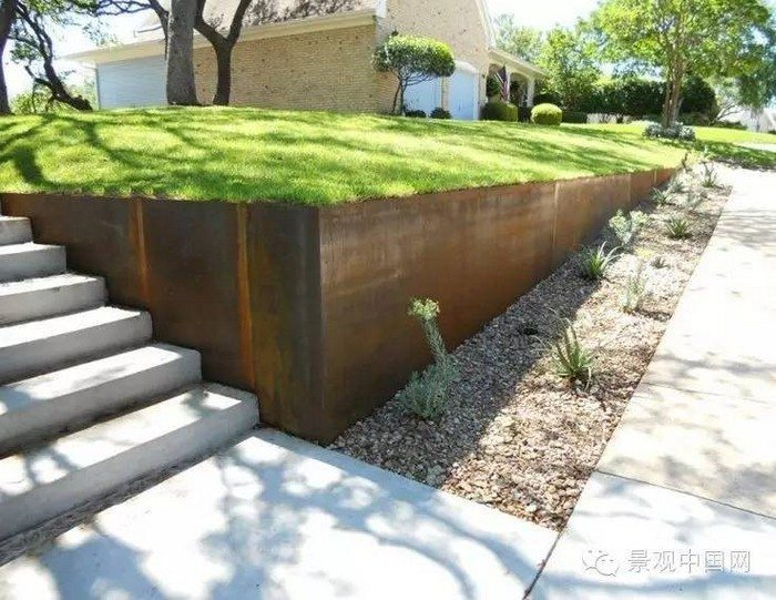 Retaining wall ideas corrugated steel and timber - Retaining Wall Ideas Diy Projects For Everyone