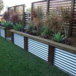Retaining Wall Ideas - Corrugated Steel and Timber
