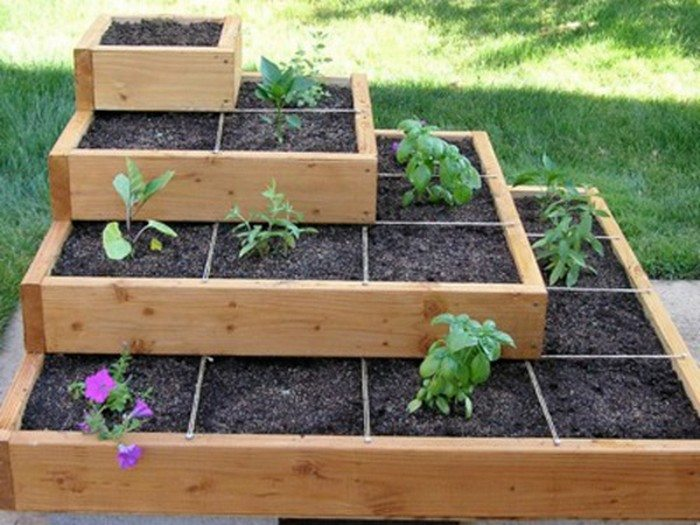 Build a beautiful tiered garden bed diy projects for for Vegetable patch ideas