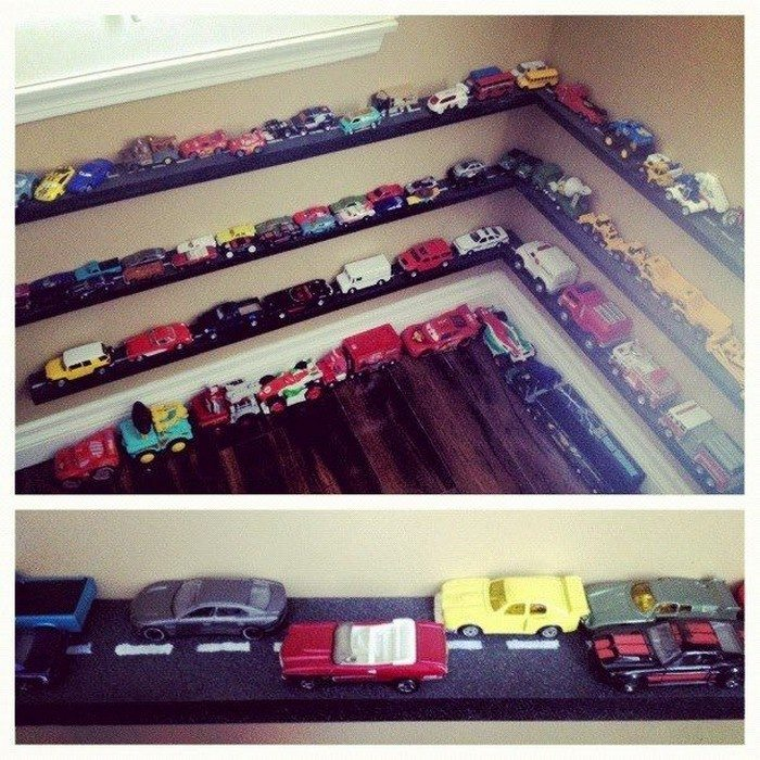 Toy Car Shelves : Awesome toy car display ideas diy projects for everyone