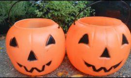 Make a concrete pumpkin planter for your garden this fall!