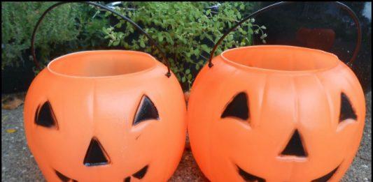 Concrete Pumpkin Planter - Candy Buckets