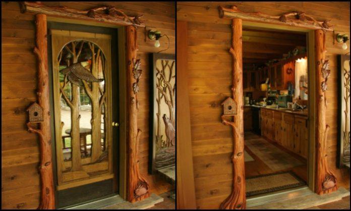 Custom Carved Wooden Doors