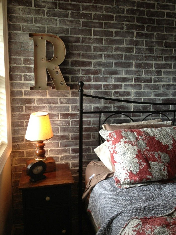 How to faux brick wall diy projects for everyone for Interior brick wall paint ideas