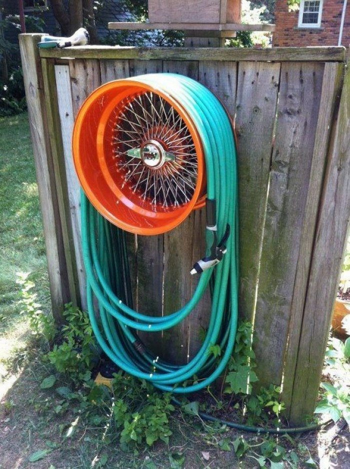 Build A Garden Hose Storage With Planter Diy Projects For Everyone