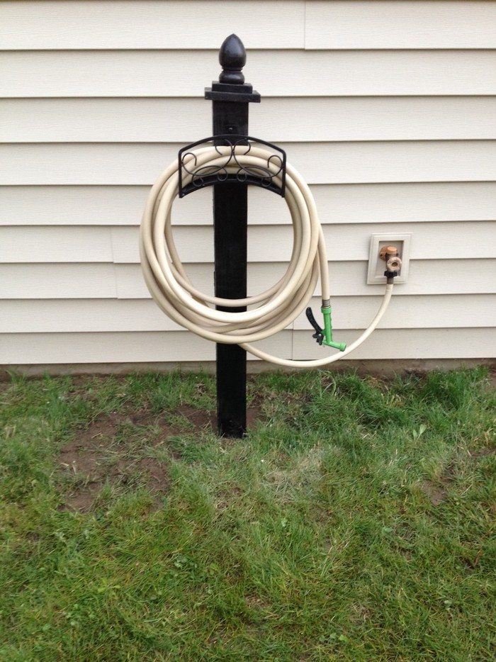 Build a garden hose storage with planter! | DIY projects for everyone!