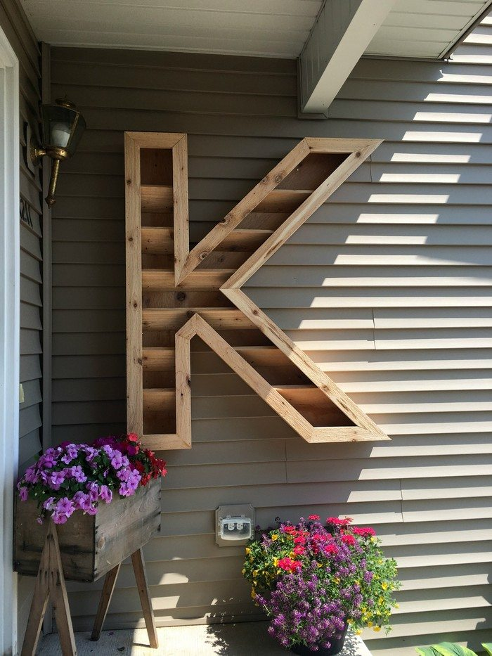 how to make a letter planter