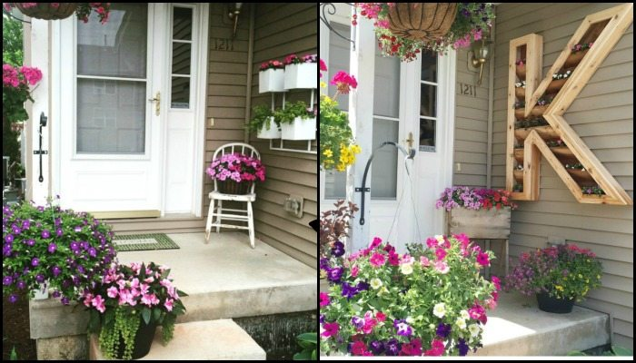Letter Planter Before and After