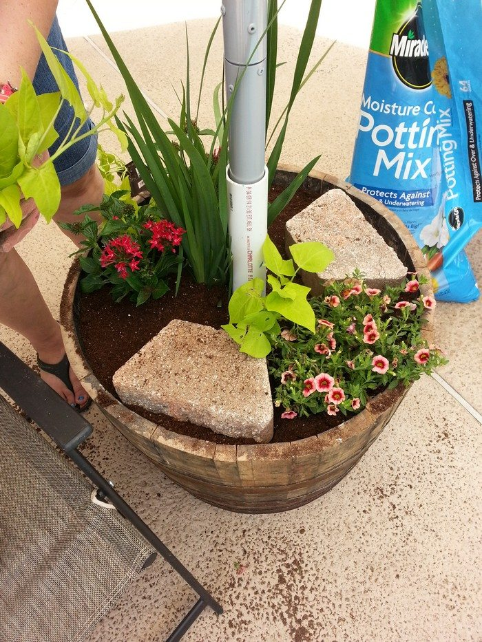 Patio Umbrella Stand Planter