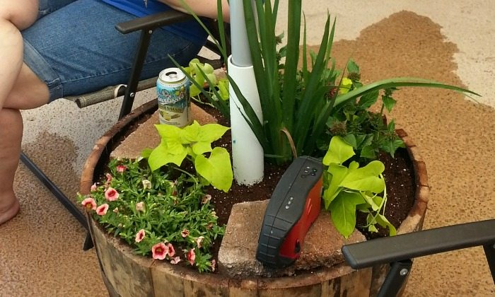 Patio Umbrella Stand Planter