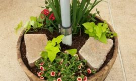 How to build a patio umbrella stand planter