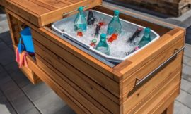 Build a sliding serving center perfect for backyard gatherings!