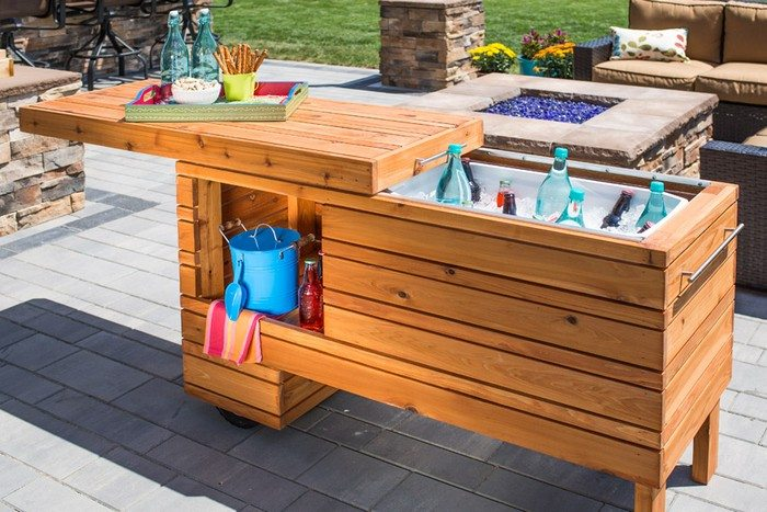 Build A Sliding Serving Center Perfect For Backyard
