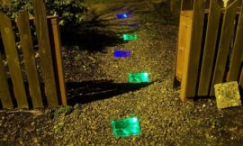 How to make solar powered stepping stones