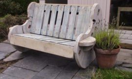 How to build a garden bench from a wooden cable reel