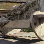 Wire Spool Garden Bench