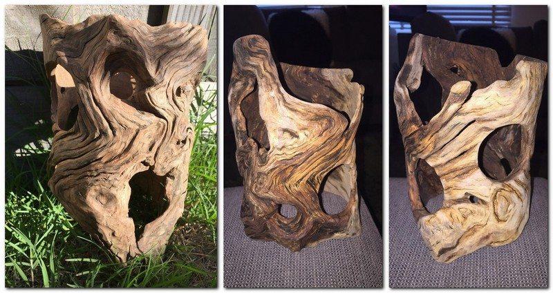 holes in log strip
