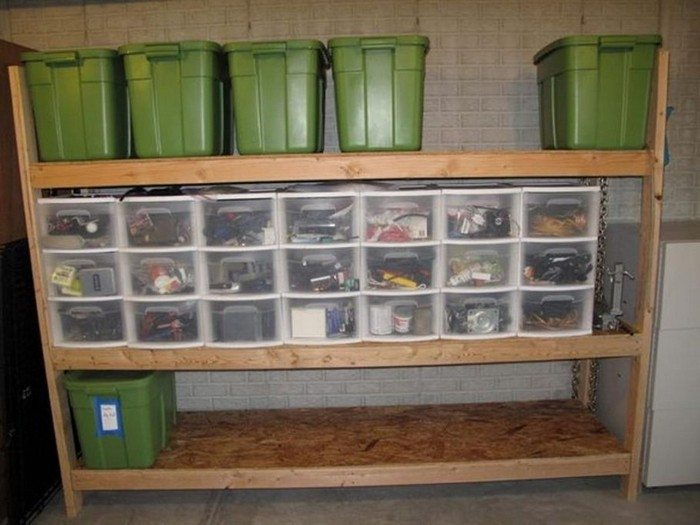 Organize Your Storage Closet With Floating Pull Out Crates