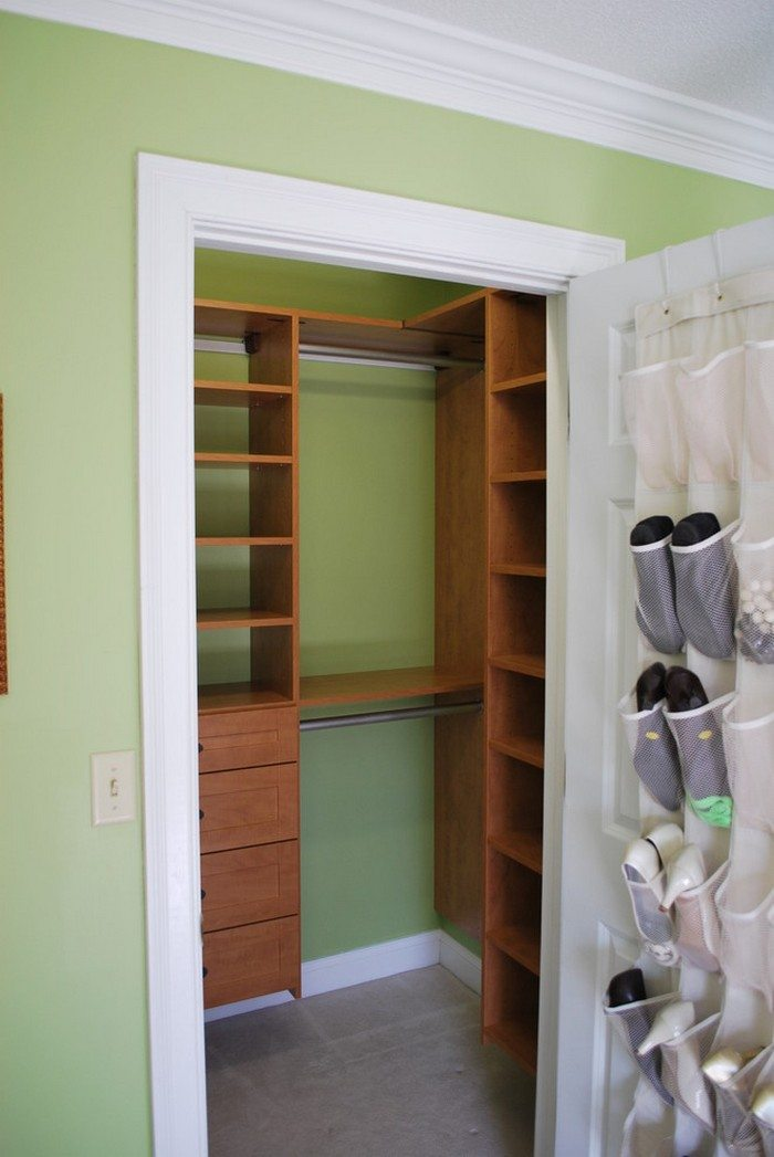 Organize Your Storage Closet With Floating Pull-out Crates