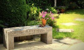How to build a concrete garden bench