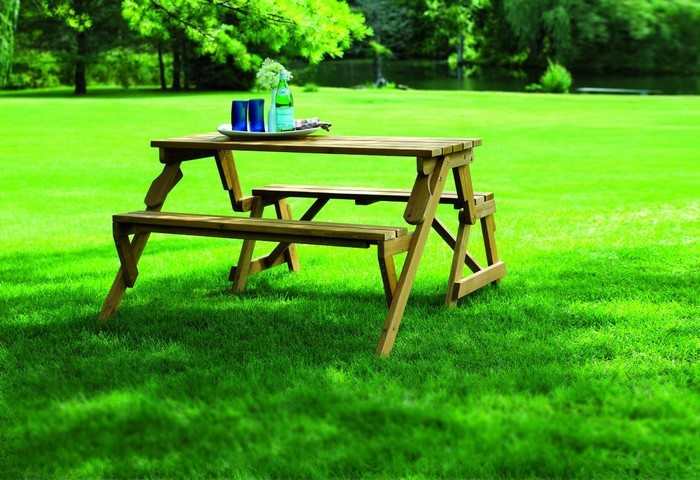 Build Your Own Convertible Picnic Table Bench Diy Projects For Everyone