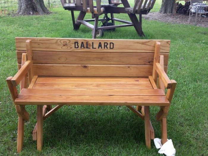 Convertible Picnic Table Bench