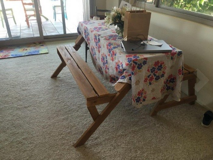 Build your own convertible picnic table bench! | DIY projects for ...