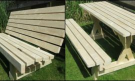 Build a 2-in-1 picnic table and bench