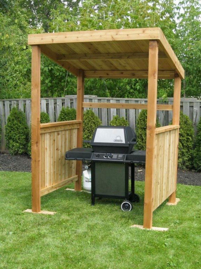 Build a grill gazebo for your backyard diy projects for for Easy to build gazebo