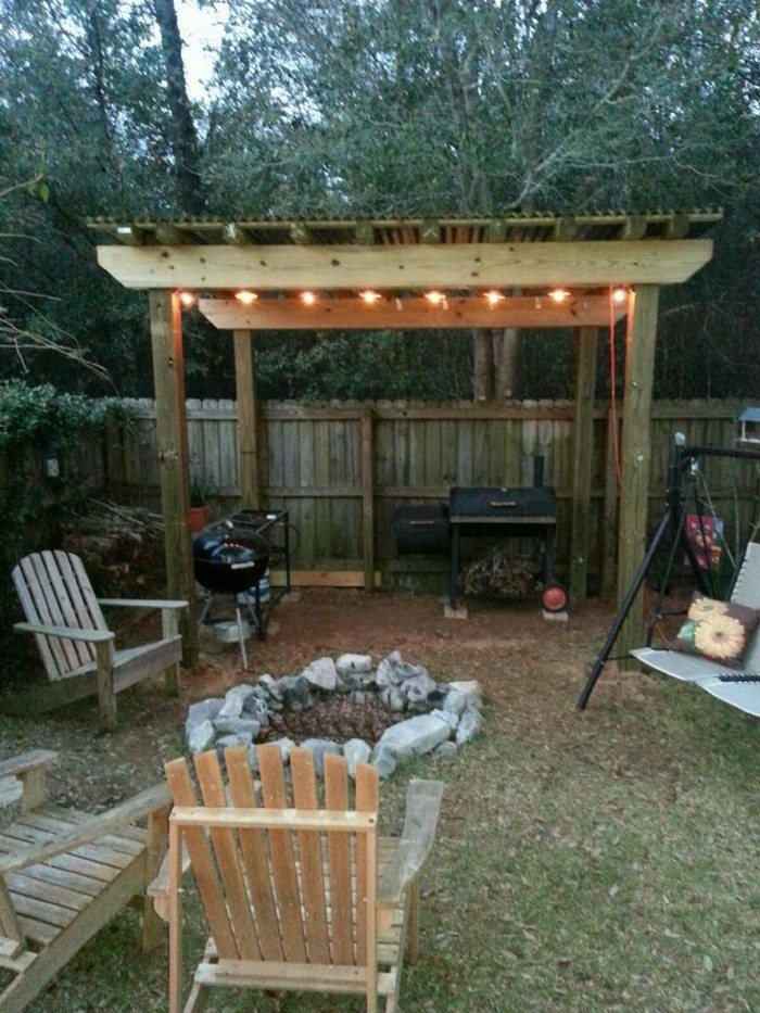 Build a grill gazebo for your backyard diy projects for for Outdoor bbq designs plans
