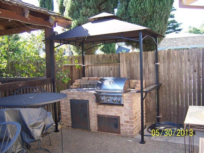 Build a grill gazebo for your backyard diy projects for everyone diy grill gazebo solutioingenieria Images
