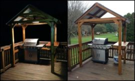 Build a grill gazebo for your backyard!