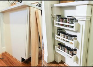Ikea Hack Built-in Spice Rack