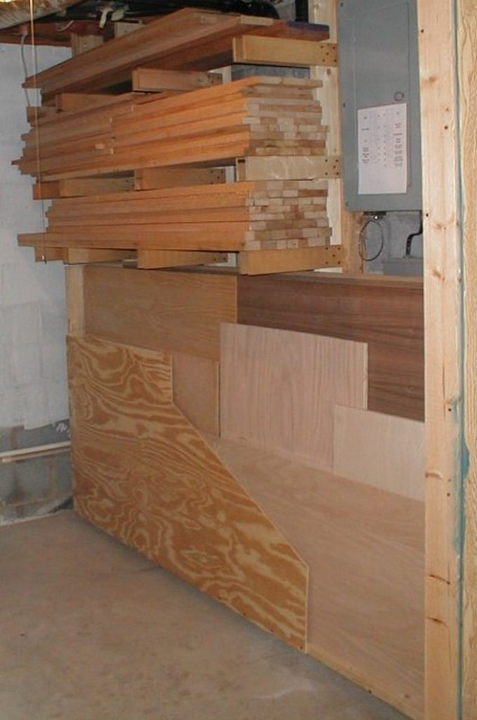 Swing-Out Plywood Storage