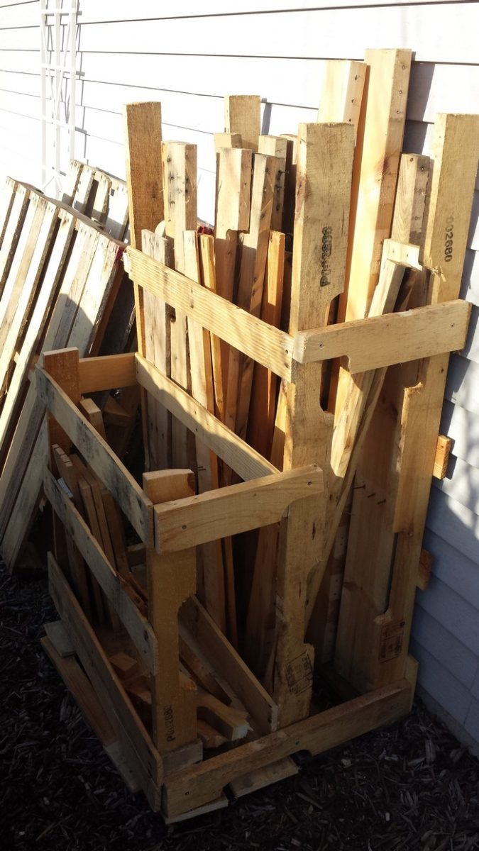Pallet Wood Storage Log Store