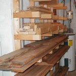 Wall-Mounted Lumber Storage