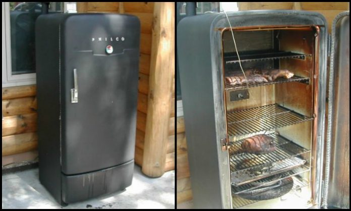Old Fridge Smoker