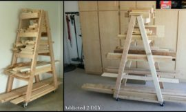 Build an easy portable lumber rack