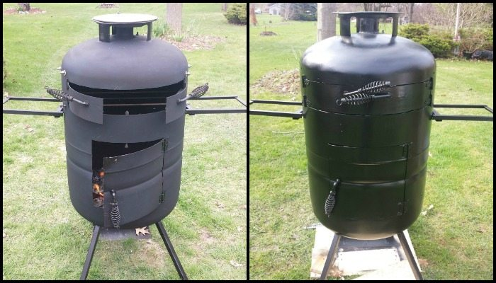 Turn a propane tank into a DIY pizza oven!