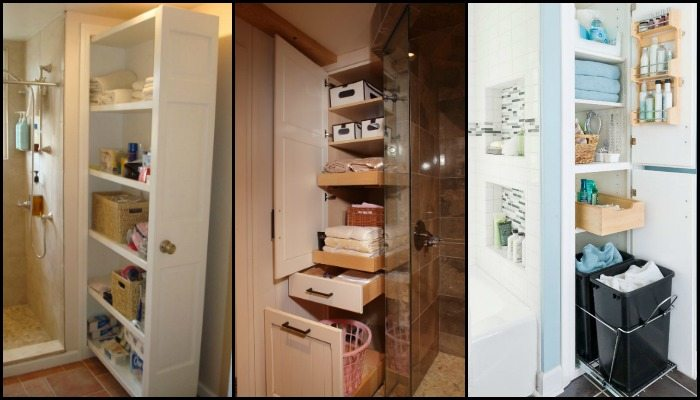 Pull-out bathroom storage ideas for a clutter-free bathroom!
