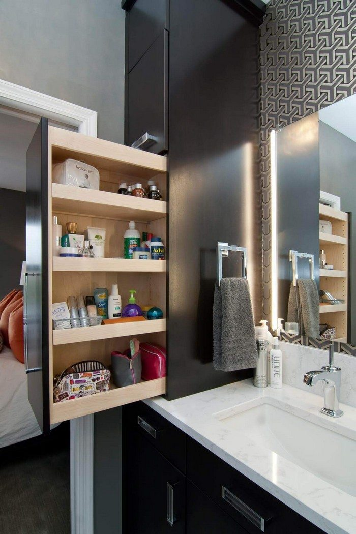 Pull-out Bathroom Storage Ideas For A Clutter-free