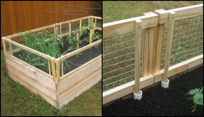 Bon Removable Garden Bed Fence