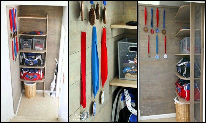 Build a custom sports equipment storage!