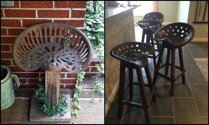 Tractor Seat Bar Stool DIY projects for everyone : Tractor Seat Bar Stools Main  from diyprojects.ideas2live4.com size 700 x 420 jpeg 76kB