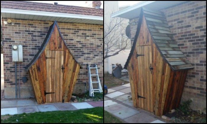 Build your own whimsical garden tool shed