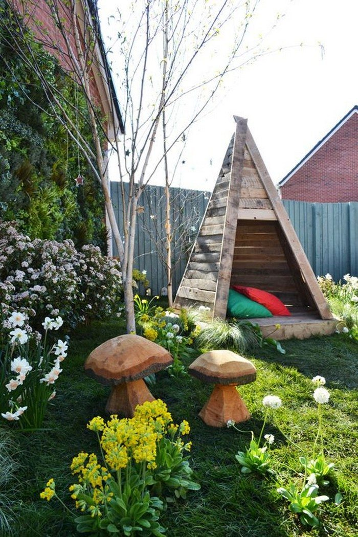 Elegant Wooden Teepee Tent For Kids